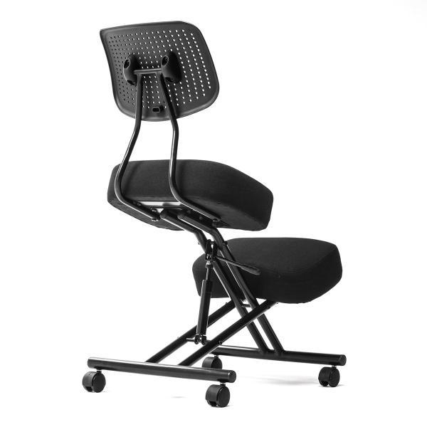 バランスチェア バランスチェアー ガス圧式 姿勢 矯正 椅子 大人 背もたれ付き(即納)|sanwadirect|17