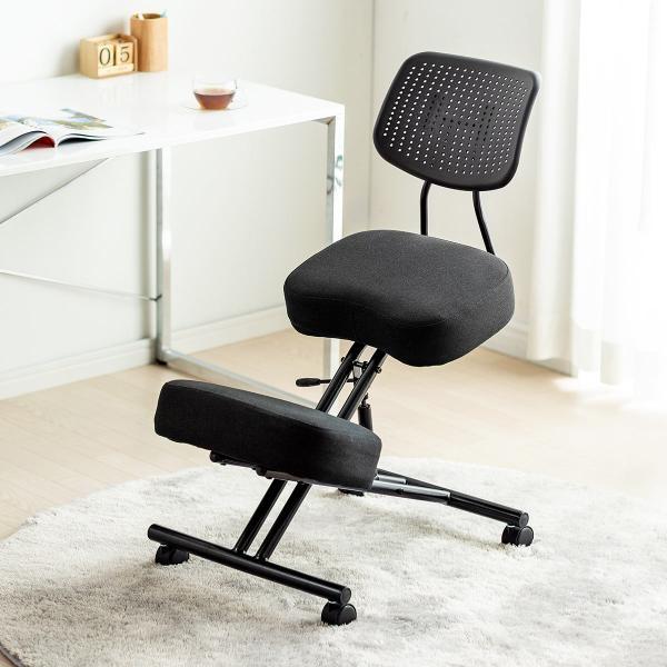 バランスチェア バランスチェアー ガス圧式 姿勢 矯正 椅子 大人 背もたれ付き(即納)|sanwadirect|18