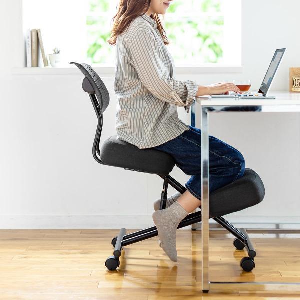 バランスチェア バランスチェアー ガス圧式 姿勢 矯正 椅子 大人 背もたれ付き(即納)|sanwadirect|19
