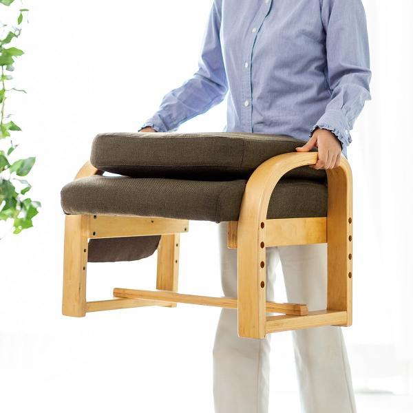 高座椅子 座椅子 椅子 リクライニング チェア 肘付き ひじ掛け付き ポケット付き 安楽椅子 コンパクト 座面 高さ調整 折りたたみ(即納)|sanwadirect|15