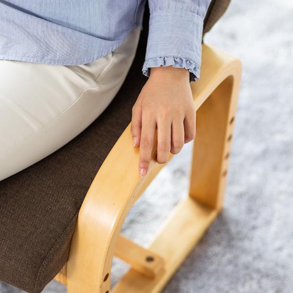 高座椅子 座椅子 椅子 リクライニング チェア 肘付き ひじ掛け付き ポケット付き 安楽椅子 コンパクト 座面 高さ調整 折りたたみ(即納)|sanwadirect|16