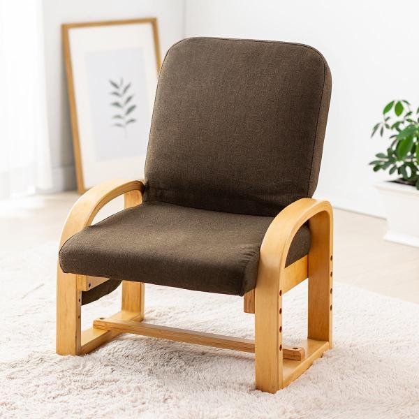 高座椅子 座椅子 椅子 リクライニング チェア 肘付き ひじ掛け付き ポケット付き 安楽椅子 コンパクト 座面 高さ調整 折りたたみ(即納)|sanwadirect|17