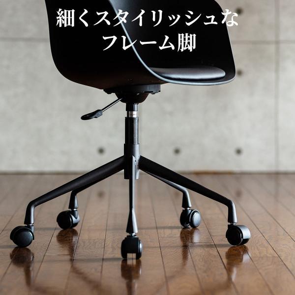 イームズチェア 回転 ジェネリック家具 リプロダクト デザイナーズ アームシェルチェア DAR Eames キャスター付き|sanwadirect|10