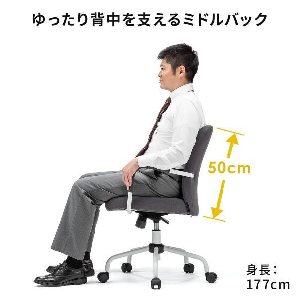 オフィスチェア パソコンチェア デザインチェア 事務椅子 肘付き オフィスチェアー デスクチェア シンプル 椅子 チェア チェアー イス いす オフィス(即納)|sanwadirect|08