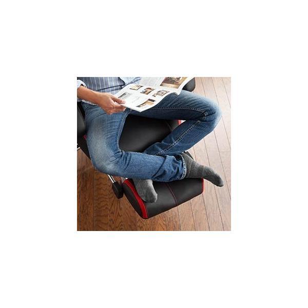 ゲーミングチェア リクライニング オットマン フットレスト デスクチェア パソコンチェア レーシングチェア オフィスチェア チェア 椅子 ハイバック(即納)|sanwadirect|17