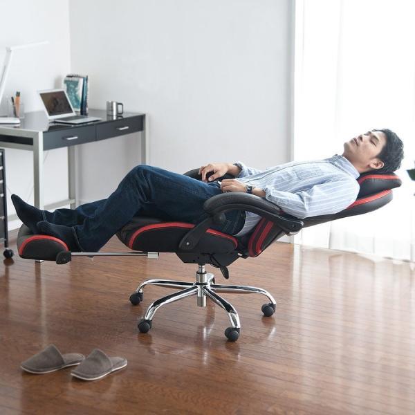 ゲーミングチェア リクライニング オットマン フットレスト デスクチェア パソコンチェア レーシングチェア オフィスチェア チェア 椅子 ハイバック(即納)|sanwadirect|18