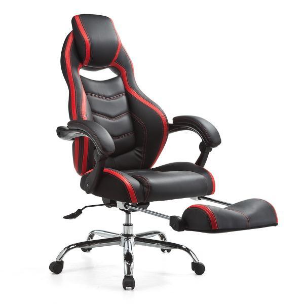 ゲーミングチェア リクライニング オットマン フットレスト デスクチェア パソコンチェア レーシングチェア オフィスチェア チェア 椅子 ハイバック(即納)|sanwadirect|20