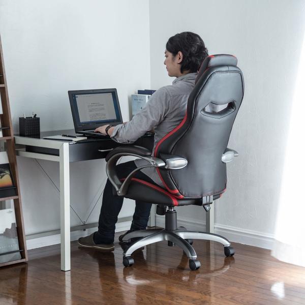 オフィスチェア ゲーミングチェア バケットシート ハイバック 肘付き デスクチェア パソコンチェア 椅子 イス いす(即納)|sanwadirect|12