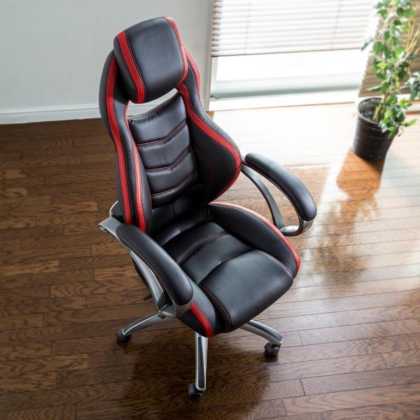 オフィスチェア ゲーミングチェア バケットシート ハイバック 肘付き デスクチェア パソコンチェア 椅子 イス いす(即納)|sanwadirect|13