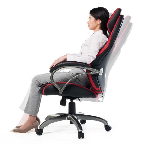 オフィスチェア ゲーミングチェア バケットシート ハイバック 肘付き デスクチェア パソコンチェア 椅子 イス いす(即納)|sanwadirect|14