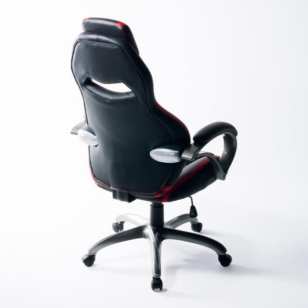 オフィスチェア ゲーミングチェア バケットシート ハイバック 肘付き デスクチェア パソコンチェア 椅子 イス いす(即納)|sanwadirect|15