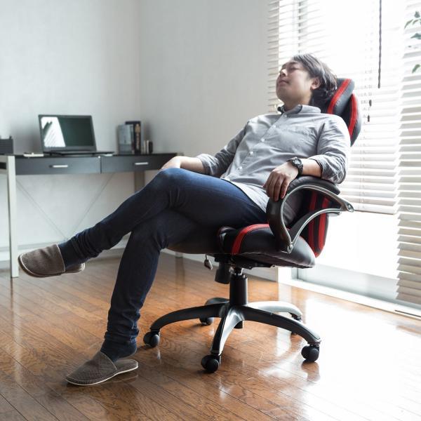 オフィスチェア ゲーミングチェア バケットシート ハイバック 肘付き デスクチェア パソコンチェア 椅子 イス いす(即納)|sanwadirect|18