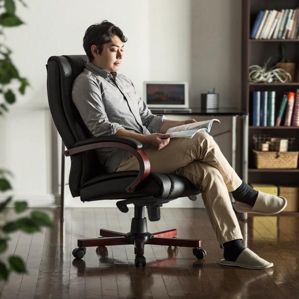 オフィスチェア レザー 本革 パソコンチェア sanwadirect 15
