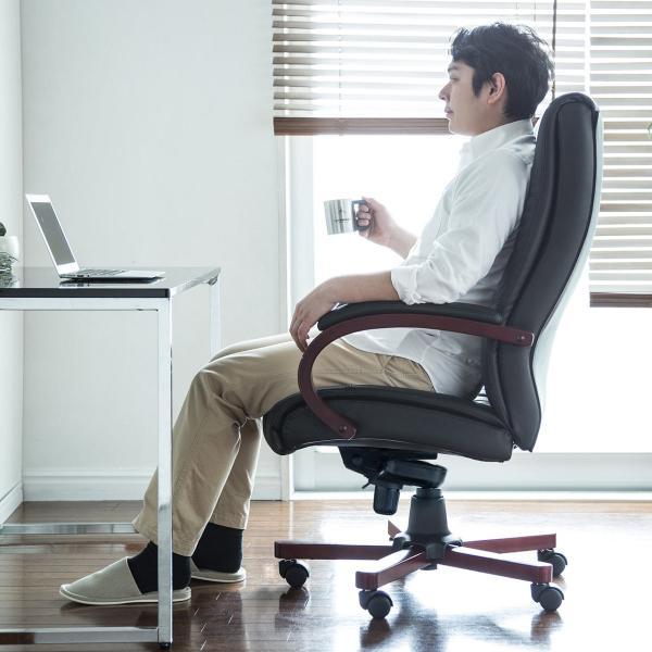 オフィスチェア レザー 本革 パソコンチェア sanwadirect 17