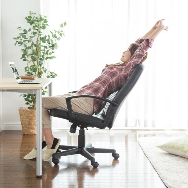 オフィスチェア オフィスチェアー 肘付 キャスター付き|sanwadirect|13