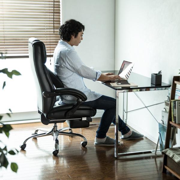 リクライニングチェア オットマン付き フットレスト リクライニングチェアー(即納)|sanwadirect|17