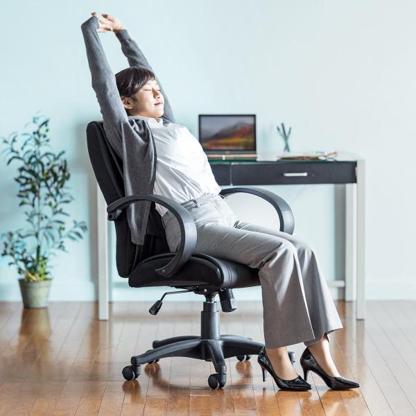 オフィスチェア オフィスチェアー 肘付 キャスター付き(即納)|sanwadirect|10