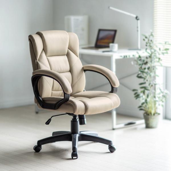 オフィスチェア 椅子 肘付き レザー キャスター付き チェアー|sanwadirect|14