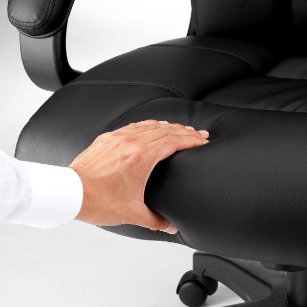 オフィスチェア 椅子 肘付き レザー キャスター付き チェアー|sanwadirect|15