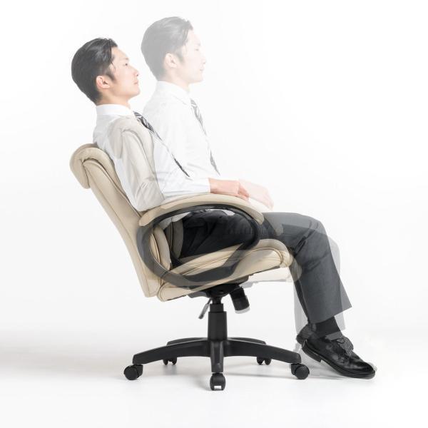 オフィスチェア 椅子 肘付き レザー キャスター付き チェアー|sanwadirect|17