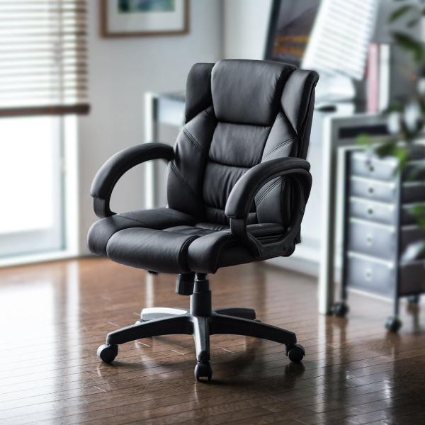 オフィスチェア 椅子 肘付き レザー キャスター付き チェアー|sanwadirect|19