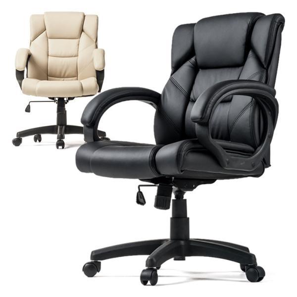 オフィスチェア 椅子 肘付き レザー キャスター付き チェアー|sanwadirect|20