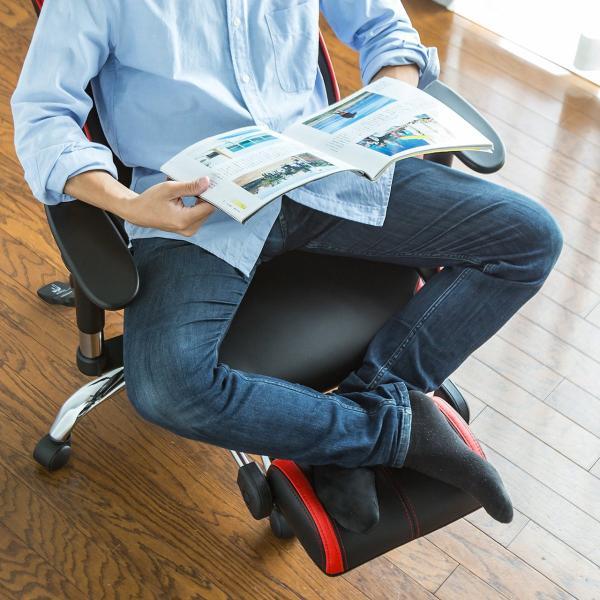 ゲーミングチェア リクライニングチェア オフィスチェア オットマン付き チェア 椅子 160°(即納)|sanwadirect|18