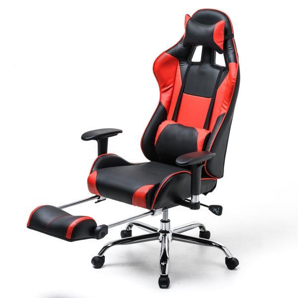 ゲーミングチェア リクライニングチェア オフィスチェア オットマン付き チェア 椅子 160°(即納)|sanwadirect|20