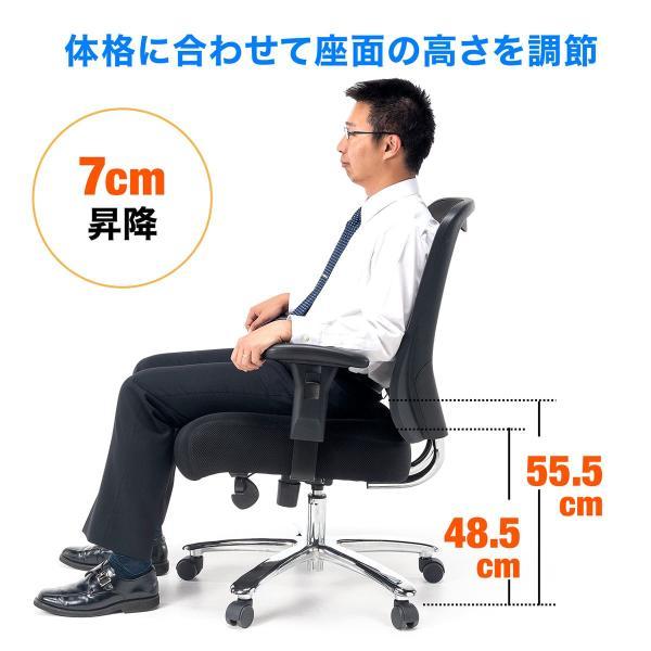 オフィスチェア パソコンチェア メッシュ 椅子 イス オフィス 高耐荷重 200kg(即納)|sanwadirect|14
