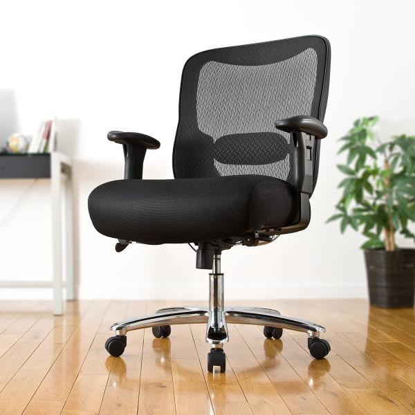 オフィスチェア パソコンチェア メッシュ 椅子 イス オフィス 高耐荷重 200kg(即納)|sanwadirect|19