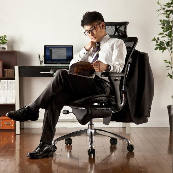 オフィスチェア メッシュチェア ハイバック メッシュ パソコンチェア 肘付き 椅子 イス|sanwadirect|19