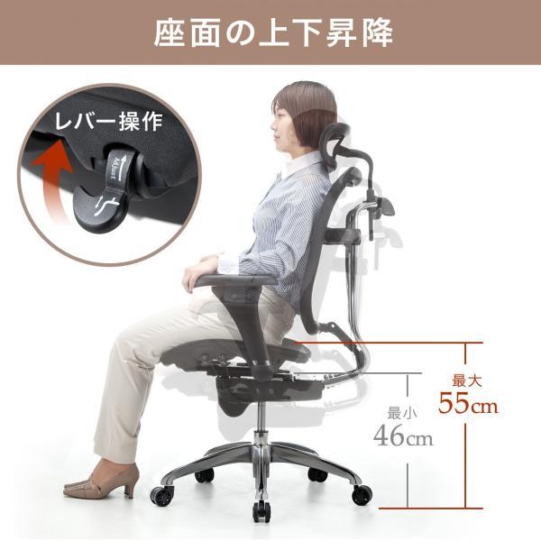 オフィスチェア メッシュチェア ハイバック メッシュ パソコンチェア 肘付き 椅子 イス|sanwadirect|06