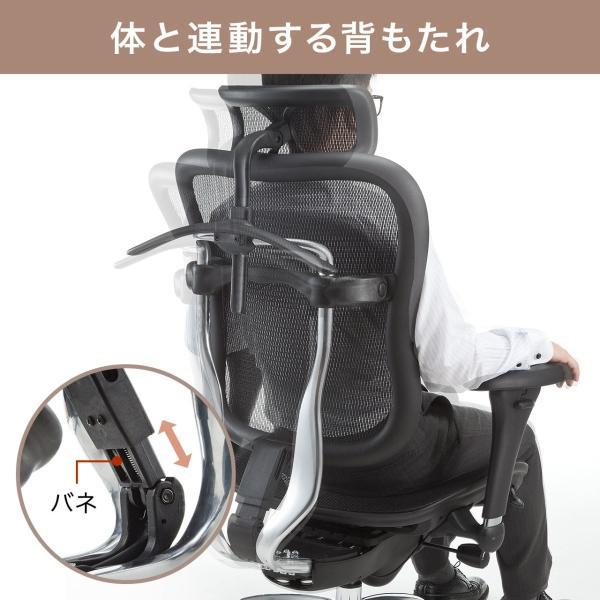オフィスチェア メッシュチェア ハイバック メッシュ パソコンチェア 肘付き 椅子 イス|sanwadirect|07