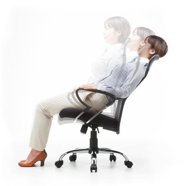 メッシュチェア ハイバック オフィスチェア パソコンチェア 肘付き 椅子 イス メッシュ|sanwadirect|11