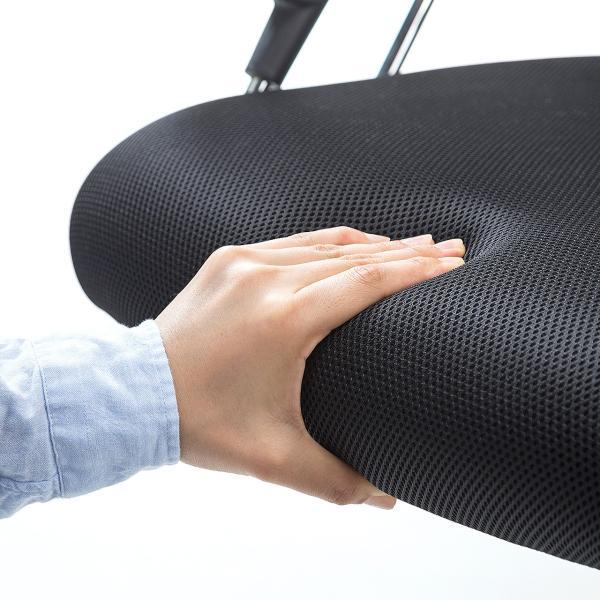 メッシュチェア ハイバック オフィスチェア パソコンチェア 肘付き 椅子 イス メッシュ|sanwadirect|09