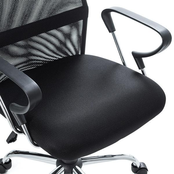 メッシュチェア ハイバック オフィスチェア パソコンチェア 肘付き 椅子 イス メッシュ|sanwadirect|10