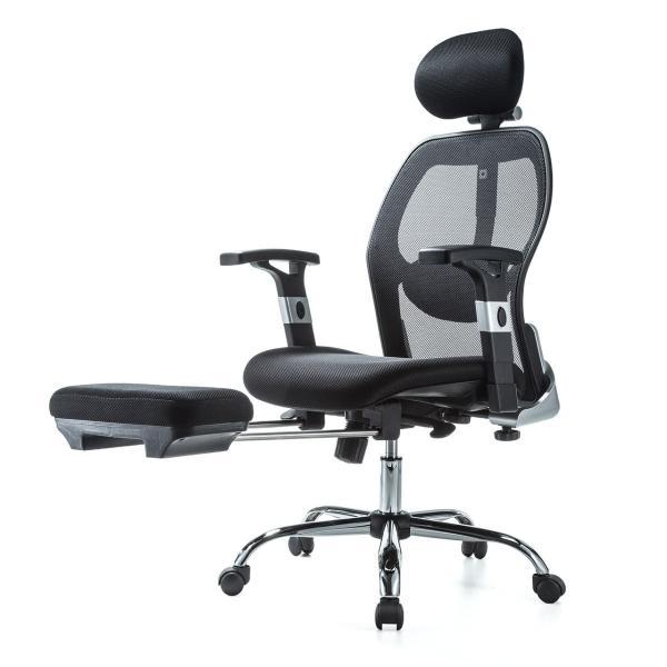 メッシュチェア ハイバック メッシュ チェア オットマン付き チェア 肘付き 椅子 イス(即納)|sanwadirect|14