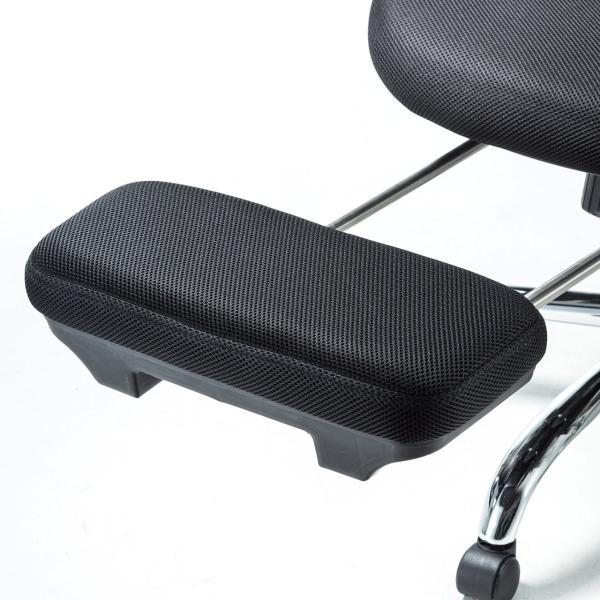 メッシュチェア ハイバック メッシュ チェア オットマン付き チェア 肘付き 椅子 イス(即納)|sanwadirect|15