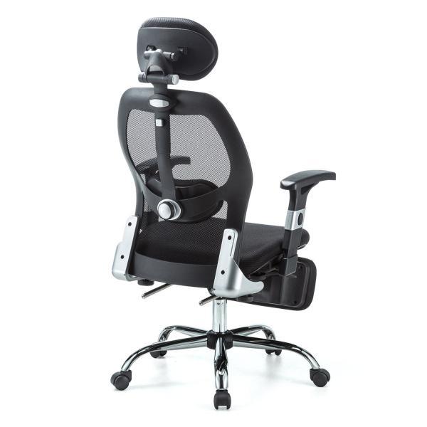 メッシュチェア ハイバック メッシュ チェア オットマン付き チェア 肘付き 椅子 イス(即納)|sanwadirect|17