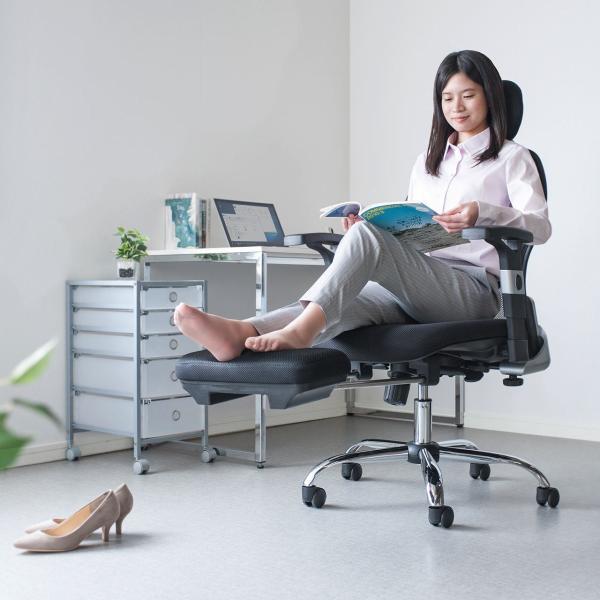 メッシュチェア ハイバック メッシュ チェア オットマン付き チェア 肘付き 椅子 イス(即納)|sanwadirect|19