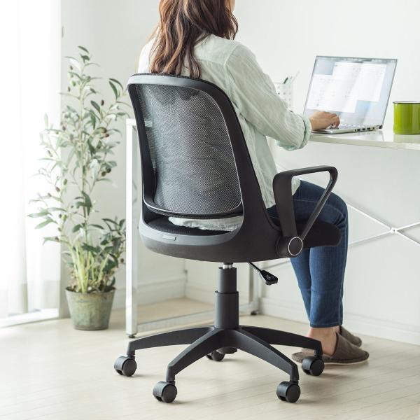 オフィスチェア メッシュ メッシュチェア 肘付き 椅子 イス オフィスチェアー sanwadirect 11