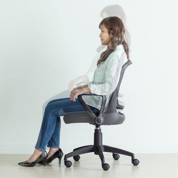 オフィスチェア メッシュ メッシュチェア 肘付き 椅子 イス オフィスチェアー sanwadirect 13