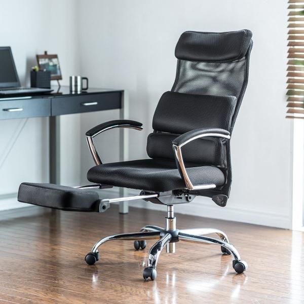 メッシュチェア リクライニングチェア オットマン付き ハイバック 椅子 イス メッシュ|sanwadirect|19