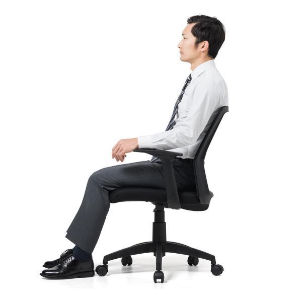 オフィスチェア メッシュ メッシュチェア 肘付き 椅子 イス オフィスチェアー(即納) sanwadirect 13