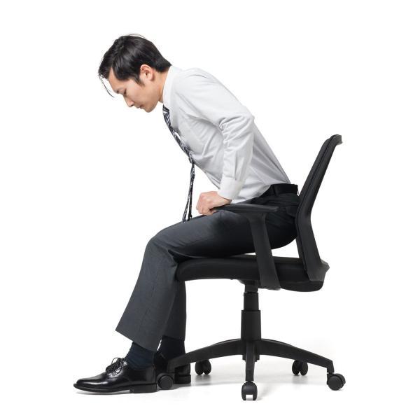オフィスチェア メッシュ メッシュチェア 肘付き 椅子 イス オフィスチェアー(即納) sanwadirect 14