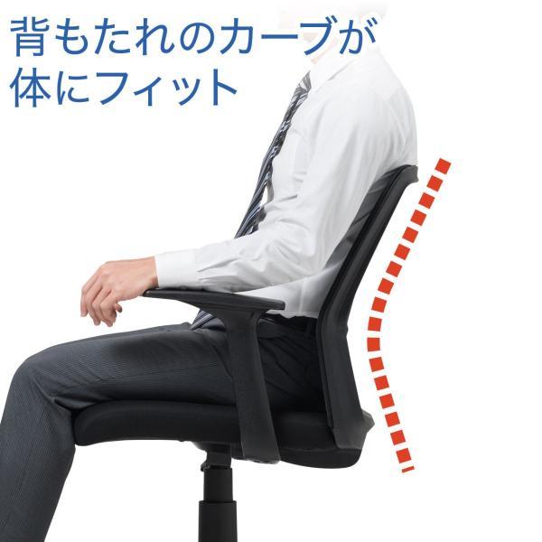 オフィスチェア メッシュ メッシュチェア 肘付き 椅子 イス オフィスチェアー(即納) sanwadirect 04