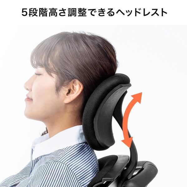 メッシュチェア ハンガー付き チェア 椅子 ハンガー パソコンチェア オフィスチェア ハイバック 肘掛け ロッキング 耐荷重100kg(即納)|sanwadirect|15
