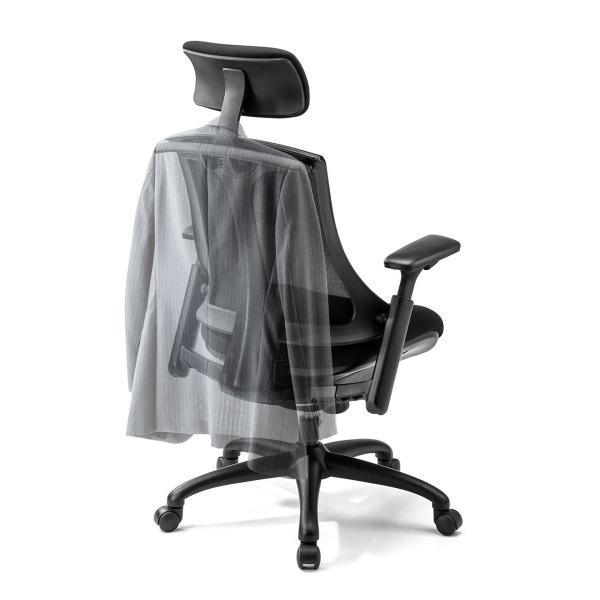 メッシュチェア ハンガー付き チェア 椅子 ハンガー パソコンチェア オフィスチェア ハイバック 肘掛け ロッキング 耐荷重100kg(即納)|sanwadirect|19