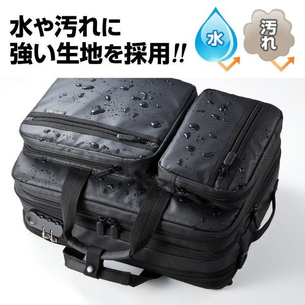 ビジネスバッグ メンズ 3way 簡易防水 耐水 大容量 リュック 軽量 ビジネスバック 通勤 出張 ビジネスリュック 鞄 カバン 3WAYバッグ PC対応(即納)|sanwadirect|02