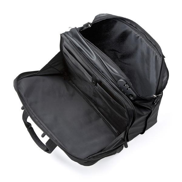 ビジネスバッグ メンズ 3way 簡易防水 耐水 大容量 リュック 軽量 ビジネスバック 通勤 出張 ビジネスリュック 鞄 カバン 3WAYバッグ PC対応(即納)|sanwadirect|11